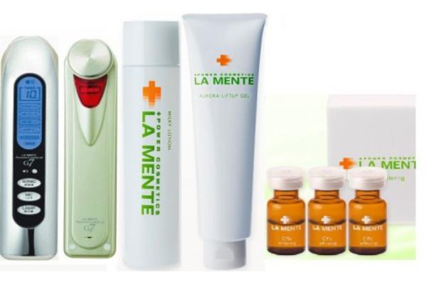 препаратами La Mente являются высокоочищенные клеточные моно- и поликомпонентые концентраты, содержащие экстракт плаценты, гиалуровой кислоты, коллагена, эластины, факторы роста, церамиды, стабилизированный витамин С