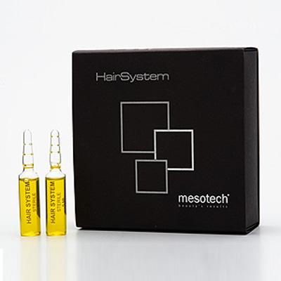 Сыворотка укрепляющая для волос ХаирСистем HairSystem 10x5мл Мезотек (Mesotech) Италия
