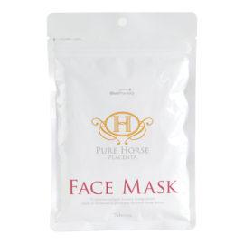 Восстанавливающая плацентарная маска Fair Lady Pure Horse Placenta Face Mask 7 шт. La Mente Япония