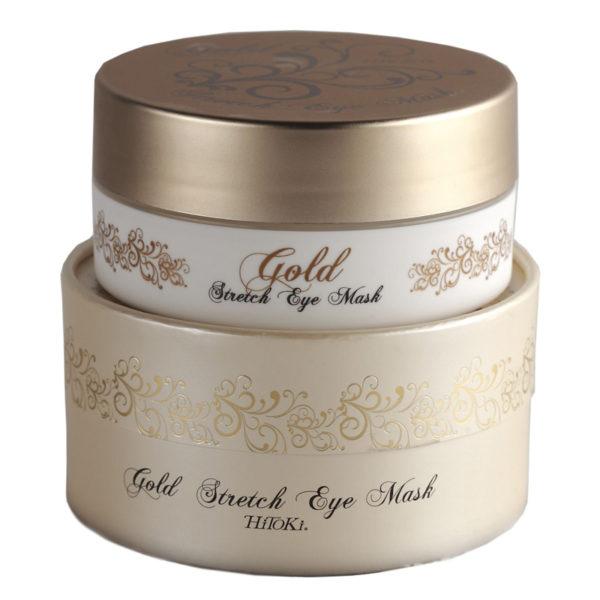 Шелковые патчи для век «Золото» Gold Stretch Eye Mask 60 шт. Amenity Япония