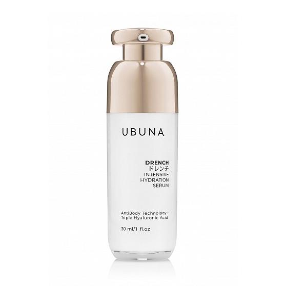 Антивозрастная интенсивно увлажняющая сыворотка Drench Intensive Hydration Serum 30 мл Ubuna Япония